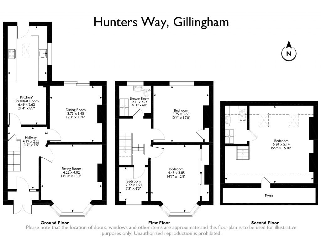 64 hunters way  gillingham  medway  me7